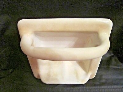Antique Cast Iron White Soap Dish for Shower/Tub~Heavy