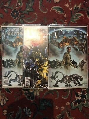 Transformers IDW Nefarious Issue #3A B and RI Retailer Incentive Mylar Archival