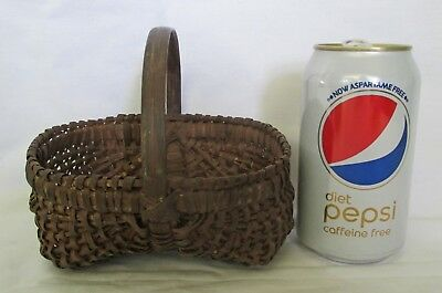 Nice Antique Small or Miniature Splint Buttocks Basket #1.NR