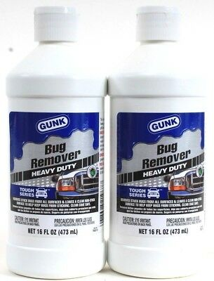 2 Gunk Bug Remover Heavy Duty All Surfaces Leaves Clean Touch Series 16 oz