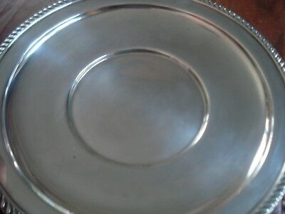 "P. S. CO. Antique Sterling Tray 9 1/2"" Diameter 200 grams"