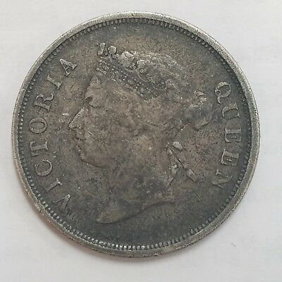 1895 Straits Settlements 50 Cents Silver Coin ** KM#13 **  56,00 Minted **