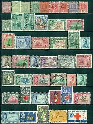 FIJI Collection of 53 Used Pre 1970 Era All Different