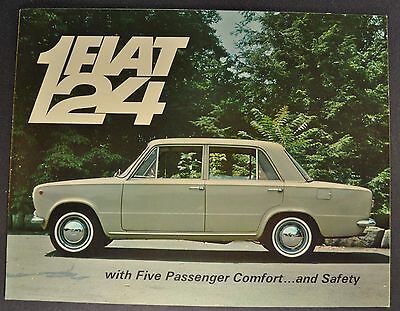 1967 Fiat 124 Sedan Sales Brochure Folder Excellent Original 67