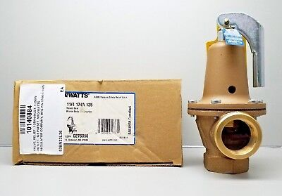 New Watts 0276050 M1 174A Pressure Safety Relief Valve Size 1-1/4 In