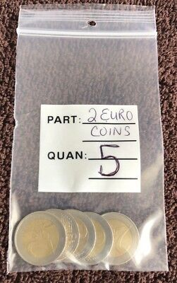 5 X 2 Euro € Coins Lot***Free Shipping***