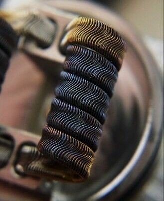 2x 15 Ply Framed Staple Alien Coils (5 Wrap) + Free Coils (Nichrome 80 Wire)