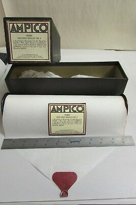 Vintage Ampico Piano Music Roll # 100695 Fox Trot Medley No. 8 With Box