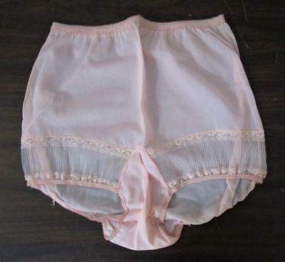 Vtg 1940's - 50's NOS Luxer Dame Union Made Nylon Lace Granny Girls Panties sz 6