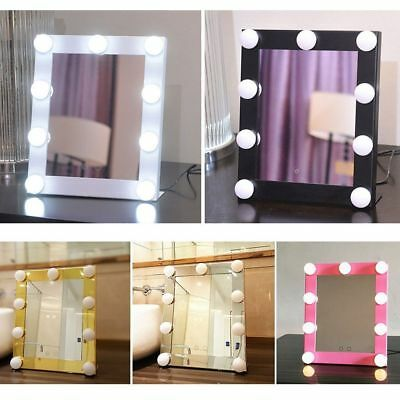 LED Vanity Light Hollywood Makeup Mirror Dimmer Stage Touch Beauty Table Lamp HE