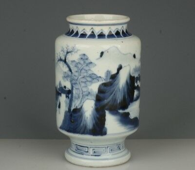 Chinese Exquisite Handmade landscape character pattern porcelain pot
