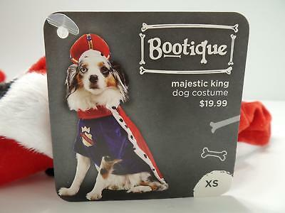 """Bootique XS Majestic King Dog Pet Costume Halloween X-Small New 11-13"""" 2688566"""