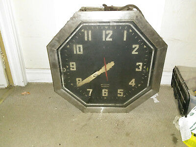 Extremely Rare Large Vintage Neon Clock
