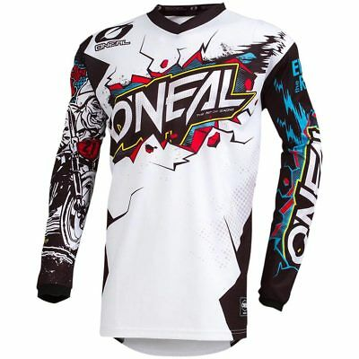 NEW Oneal Mx 2019 Element Villain White Motocross Dirt Bike Premium Jersey