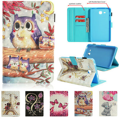 "Patterned PU Leather Stand Case Cover For Samsung Galaxy Tab E 8"" 9.6"" T377 T560"