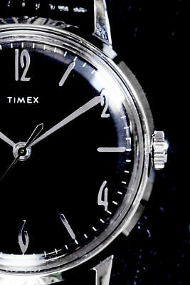 Genuine RARE NEW Timex Marlin BLACKOUT 34mm watch Limited Edition FREE Shipping