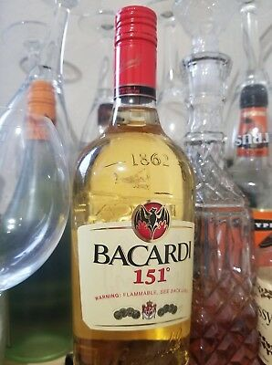 Bacardi 151: Discontinued and Very Rare 1L bottle 75.5% Alcohol Content
