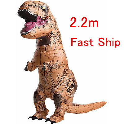 Adult T-Rex Jurassic World Inflatable Dinosaur Costume Blow Up Dress + USB Cable