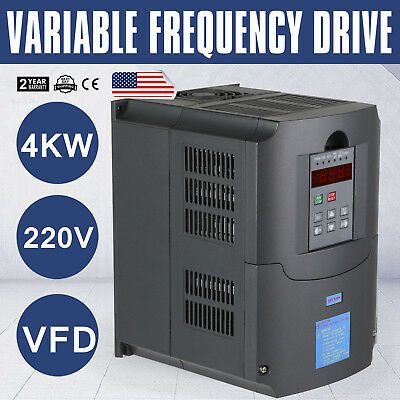 Updated 220V 4Kw 5Hp Variable Frequency Drive Inverter Vfd Vsd