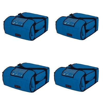 "Case of 4 Pizza Bags (Holds 4-5 16"" or 18"" pizzas) Blue"
