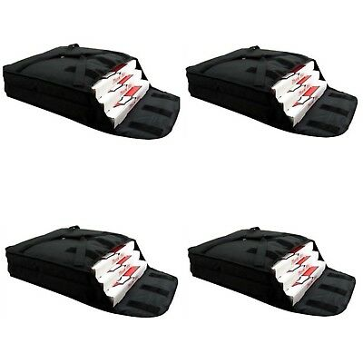 "Case of 4 Pizza Bags (Holds 2-3 12"" or 14"""" pizzas) Black."