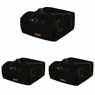 "Case of 3 Pizza Bags (Holds 4-5 16"" or 18"" pizzas) Red"