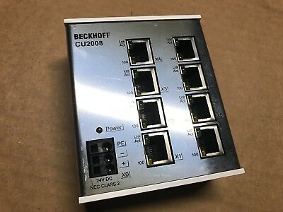 Beckhoff CU2008-0000 industrial ethernet switch 8-port 24vdc stainless steel QTY