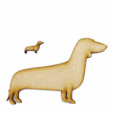 3mm MDF Wooden Laser Cut Shapes Various Sizes - Dachshund