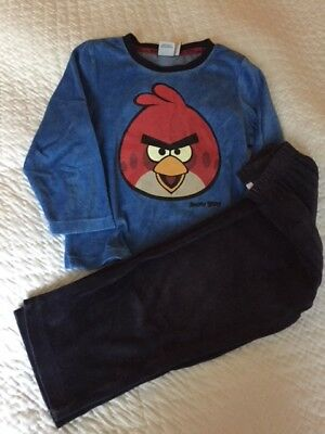 pyjama velours, ANGRY BIRDS, taille 6 ans