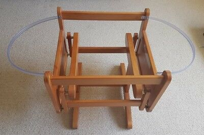 Mothercare Gliding Moses Basket Stand - Adjustable, Antique Finish (2 of 2)