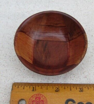 "Miniature Bowl Wooden Wood Small 3 1/8"" Diameter"