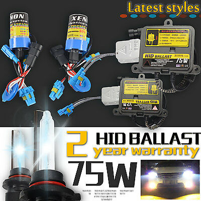 75W Hid H1 H3 H7 H11 9005 9006 HB4 Xenon Bulb Ballast Conversion Kit Headlight