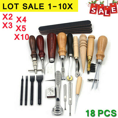 LOT 1-10x Leather Craft Tools Kit Stitching Sewing Beveler Punch Working Hand-OY
