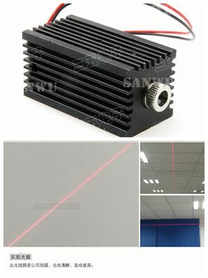 Adjustable 100mW 650nm Red Laser Diode Module Line Beam 120° w 12mm Heatsink