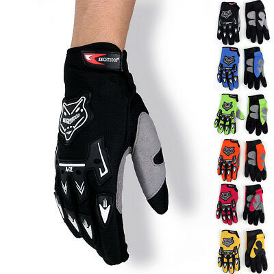 Racing Motorcycle Motocross Cycling Dirt Bike Full Finger Gloves A02 AU