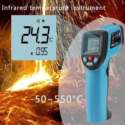 -50~550℃ Non-contact Digital Infrared Thermometer LCD Point Gun Laser Pyrometer