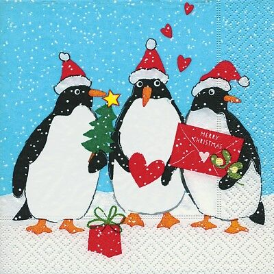 Decoupage 4x Paper Napkins for Party Kevin Penguin