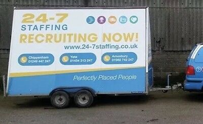 advertising trailer 12ft x 8ft Twin axle