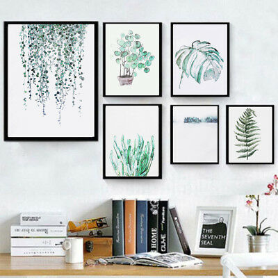 Nordic Wall Hanging Tropical Plants Leaf Canvas Art Poster Print Picture Decor