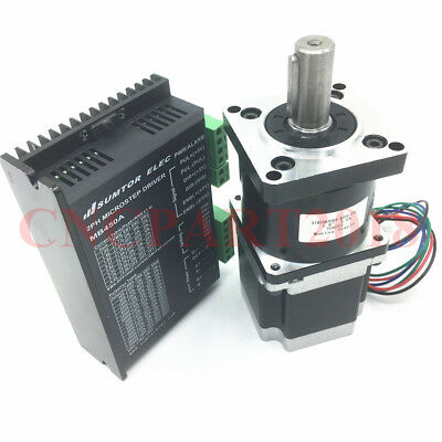 Planetary Gear Step Motor Nema 23  Ratio 5:1 9Nm 3A &Driver 4.2A for CNC Router