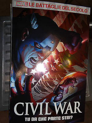 N°1 THE BATTLES OF SECOLO CIVIL WAR you from che parte stai? panini comics 2016