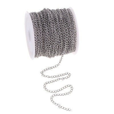 Silver Stainless Steel Cable Chain 13yd Necklace Bracelet Keyring Findings
