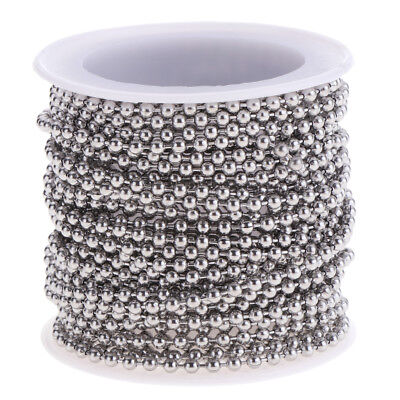 Stainless Steel Beaded Chain 13yd for Necklace Bracelet Making Finding Carft