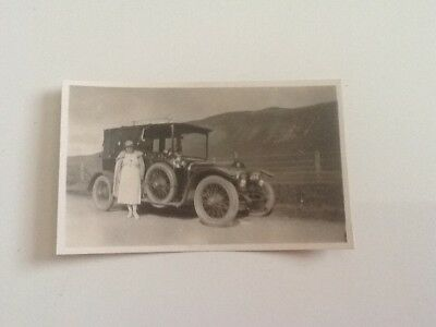 Black and White Photograph. Vintage Motor vehicle.