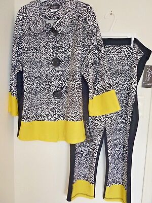 NWT, Artex Fashions knit 2 piece color block set, size 3X made in Canada