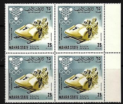 Mahra (Yemen) 1967 Sport Winter Olympics MNH - block of 4