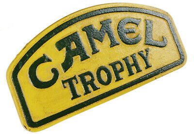 Camel Trophy 4 x 4 Land Rover Jeep Logo - Small Cast Iron Sign Plaque