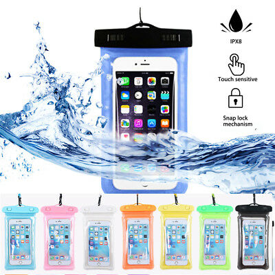 Waterproof Underwater Floating Dry Pouch Bag Case For iPhone X 8 Plus Samsung S9
