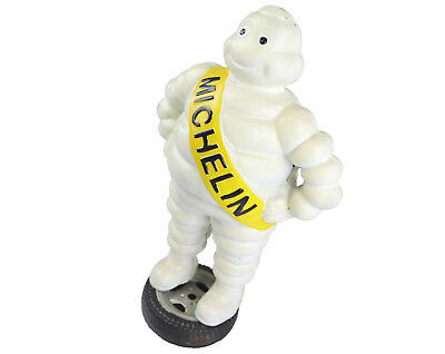 Michelin Man Standing on Tyre - 38cm Tall - Cast Iron Ornament Figure