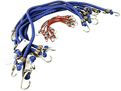 """Bungee Cords 8 X 30"""" AND 10 x 10"""" Elastic Strap Trailer Bungees Bungy Hook"""